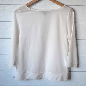 French Connection Cream Tencel Blouse XS